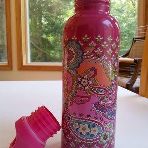 NWT Vera Bradley Water Bottle Pink Swirls